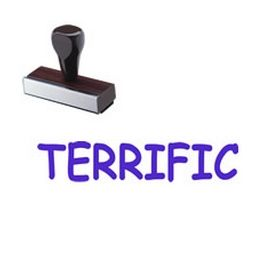 Large Regular Terrific Rubber Stamp