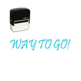 Large Self Inking Way to Go! Rubber Stamp