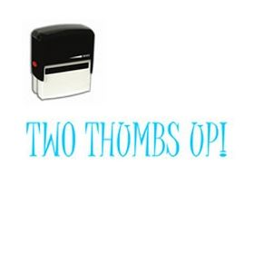 Large Self Inking Two Thumbs Up! Rubber Stamp