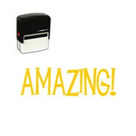 Large Self Inking Amazing! Rubber Stamp