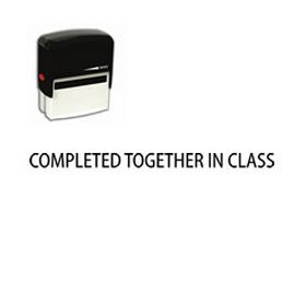 Self Inking Completed together in class Rubber Stamp (Large)