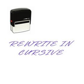 Large Self Inking Rewrite in cursive Rubber Stamp