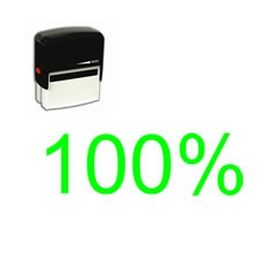 Self-Inking 100% Teacher Stamp