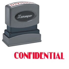 Confidential Xstamper Stock Stamp