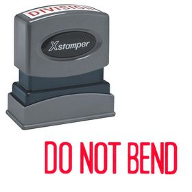 Do Not Bend Xstamper Stock Stamp