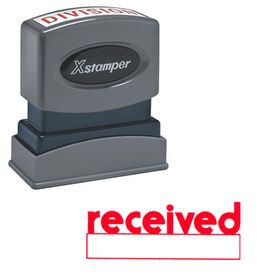 Red Received Xstamper Stock Stamp