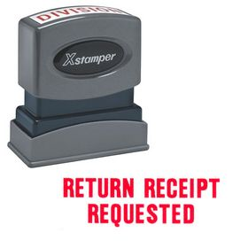 Return Receipt Requested Xstamper Stock Stamp