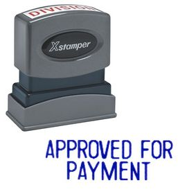 Approved For Payment Xstamper Stock Stamp