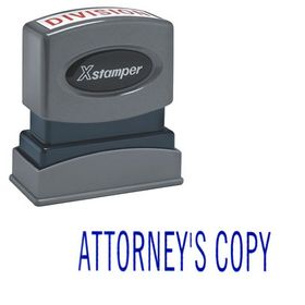 Attorney's Copy Xstamper Stock Stamp