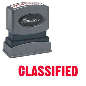 Classified Xstamper Stock Stamp