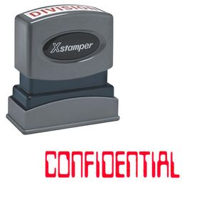 Barcode Confidental Xstamper Stock Stamp