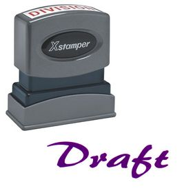 Purple Draft Xstamper Stock Stamp