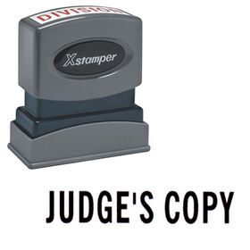 Judge's Copy Xstamper Stock Stamp