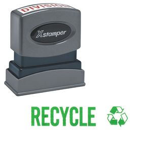 Green Recycle Xstamper Stock Stamp