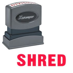 Shred Xstamper Stock Stamp