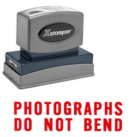 Photographs Do Not Bend Xstamper Stock Stamp