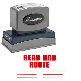 Read And Route Xstamper Stock Stamp