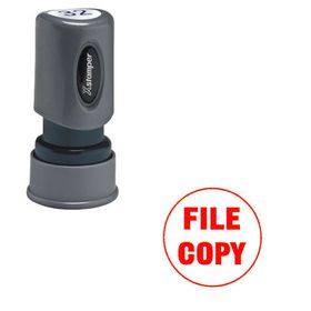 Round File Copy Xstamper Stock Stamp