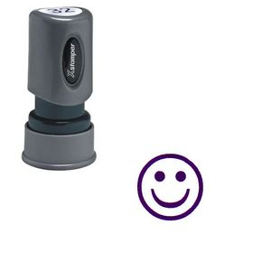 Violet Smiley Face Xstamper Stock Stamp