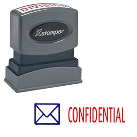 Two-color Confidental Xstamper Stock Stamp