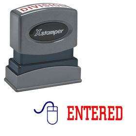 Two-color Entered Xstamper Stock Stamp