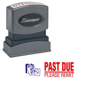 Red Past Due Please Remit Xstamper Stock Stamp