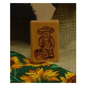 Pig Farmer Art Rubber Stamp