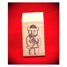 Scout Bear Art Rubber Stamp
