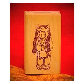 Bear Indian Art Rubber Stamp