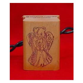 Bear Angel with Slipped Halo Art Stamp