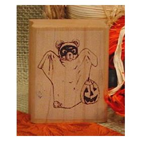 Bear Ghost Art Rubber Stamp