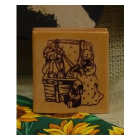Box with Toys Art Rubber Stamp