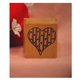 Country Heart Art Rubber Stamp