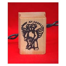 What An Angel Bear Art Rubber Stamp