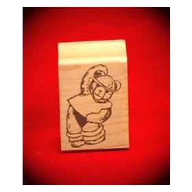Exercise Bear Art Rubber Stamp