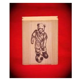 Soccer Bear Art Rubber Stamp