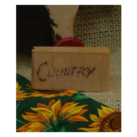 Country Word Art Rubber Stamp