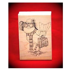 Miami Bound Bird Art Rubber Stamp