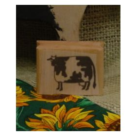 Folk Art Cow Art Rubber Stamp