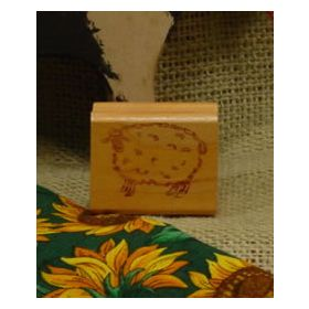 Folk Art Sheep Art Rubber Stamp