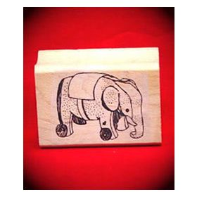Elephant Toy Art Rubber Stamp