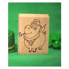 Irish Pig Art Rubber Stamp