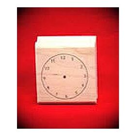 Blank Clock Art Rubber Stamp