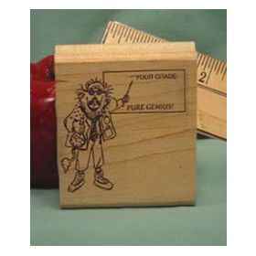 Your Grade/Pure Genius Art Rubber Stamp