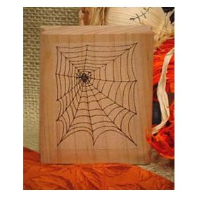 Spider web Art Rubber Stamp