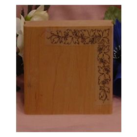 Open Leaf Corner Pattern Art Rubber Stamp