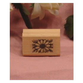 Small Daisy with Stem Art Rubber Stamp