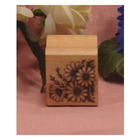 Bunch of Daisies Art Rubber Stamp