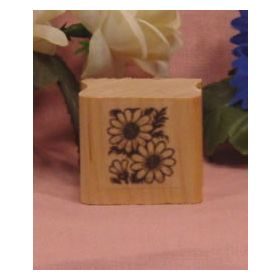 2 Daisies Art Rubber Stamp