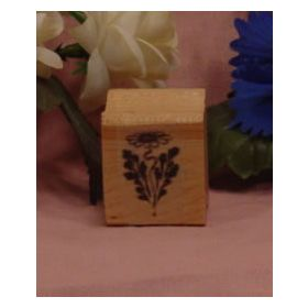 Daisy with Leaf Art Rubber Stamp